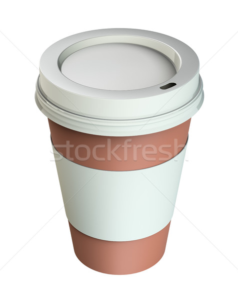 Take-out coffee in thermo cup Stock photo © cherezoff