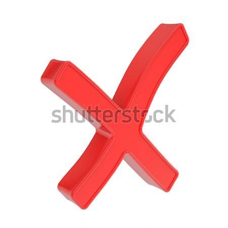 Foto stock: Cruz · vermelha · isolado · tornar · branco · projeto · vermelho