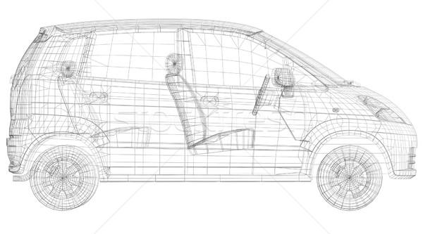 Wire frame car Stock photo © cherezoff