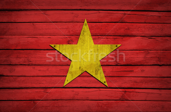 Morocco flag painted on wooden boards Stock photo © cherezoff
