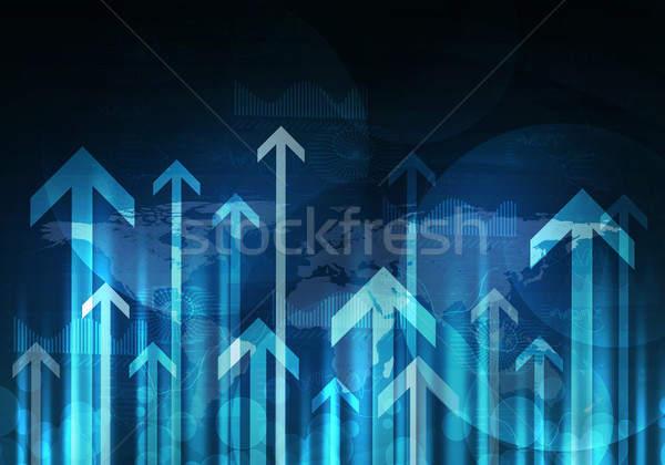 Glowing graphs and arrows. Hi-tech background Stock photo © cherezoff