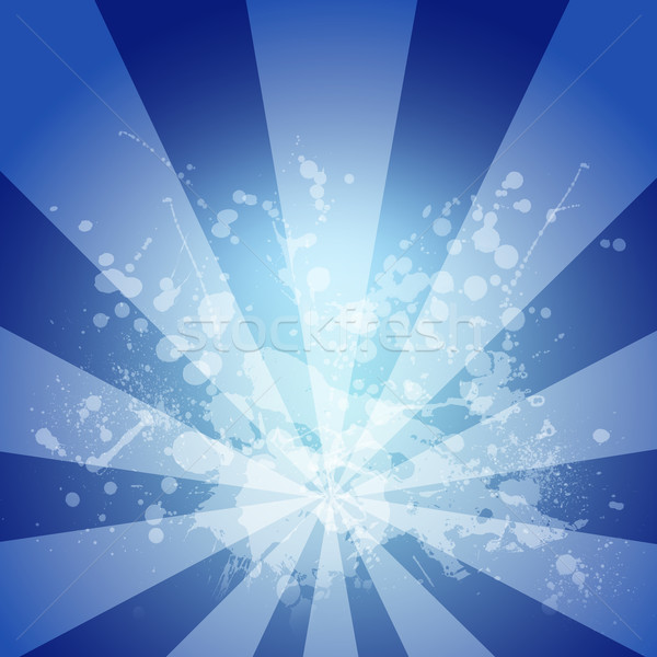 Abstract blue background is white blotches and stripes at center Stock photo © cherezoff