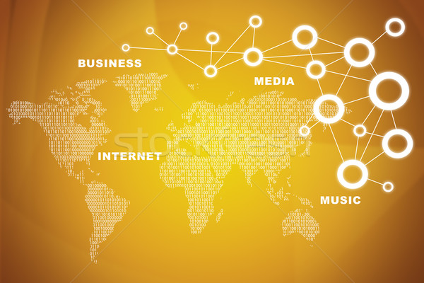 World map with business words on red Stock photo © cherezoff