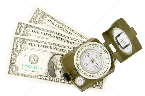 Vintage compass on white Stock photo © cherezoff