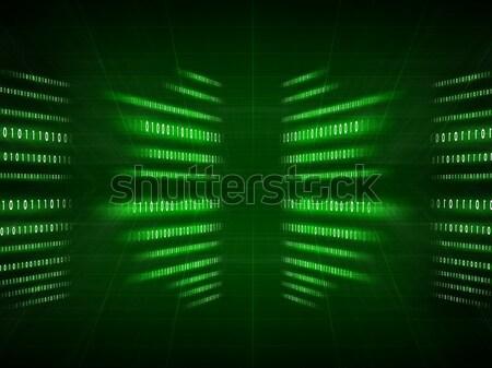 Yeşil ikili kod siyah karanlık bilgisayar ışık Stok fotoğraf © cherezoff
