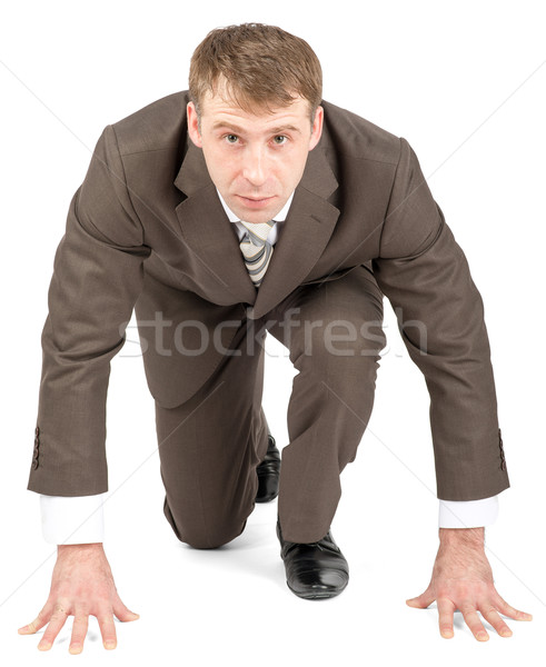 Businessman starting to race Stock photo © cherezoff