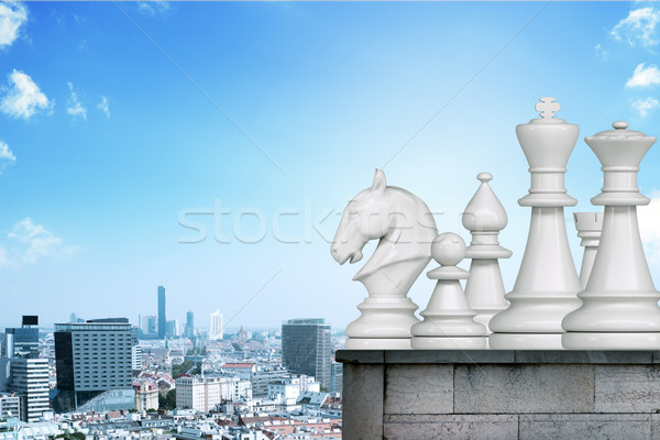 Set of chessmen Stock photo © cherezoff