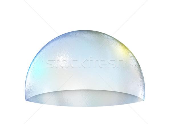 Szappanbuborék fél izolált fehér 3D renderelt kép Stock fotó © cherezoff