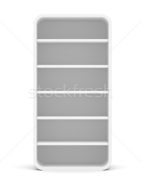 Empty rounded retail shelves. Front view Stock photo © cherezoff