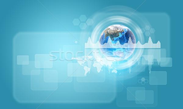 Föld grafikonok körök alkotóelem kép világ Stock fotó © cherezoff