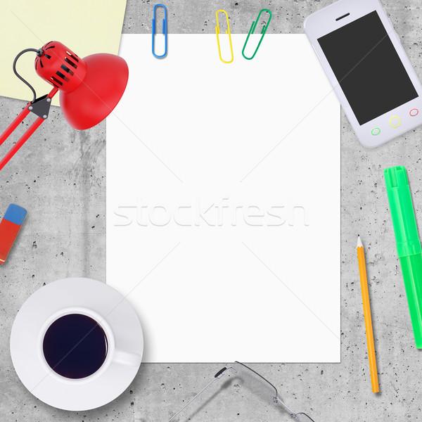 白紙 シート 事務 要素 周りに 石 ストックフォト © cherezoff