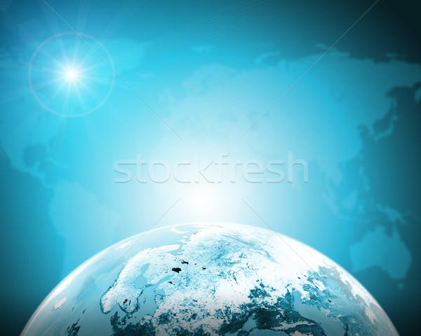 Zielone ziemi świecie kontynenty przezroczysty Zdjęcia stock © cherezoff