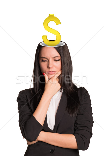 Businesslady with dollar sign Stock photo © cherezoff