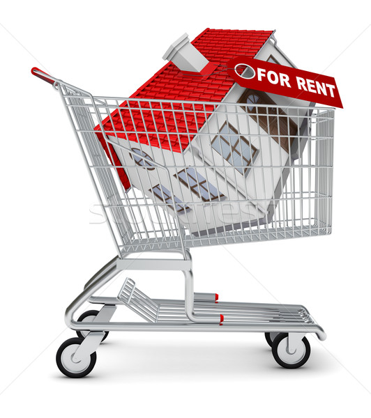 House for rent in shopping cart Stock photo © cherezoff