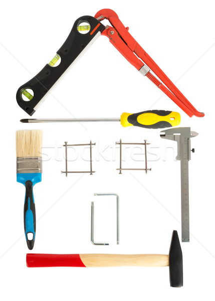 House made up from tools Stock photo © cherezoff