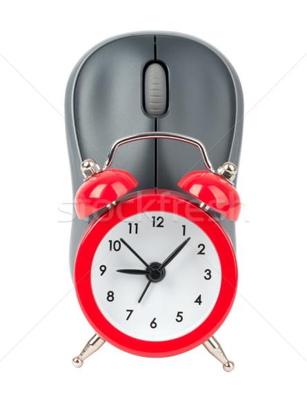 Computer mouse with alarm clock Stock photo © cherezoff