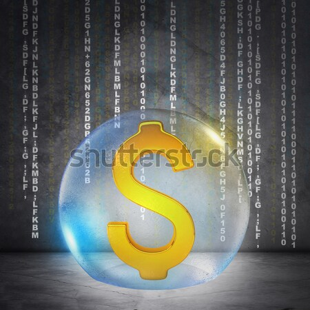 Dollárjel buborék tűz dollár Stock fotó © cherezoff