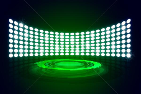 этап подиум Лучи зеленый Сток-фото © cherezoff