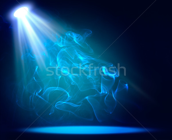Spotlight blue on smog background Stock photo © cherezoff
