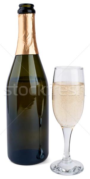 Champanhe garrafa vidro isolado branco vinho Foto stock © cherezoff