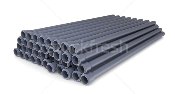 Grey PVC sewer pipes Stock photo © cherezoff