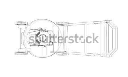 SLR camera. Wire frame Stock photo © cherezoff