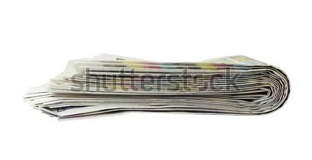 Periódicos aislado blanco negocios comunicación Foto stock © cherezoff