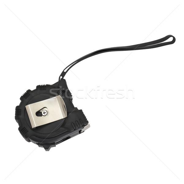 Czarny centymetrem odizolowany biały budowy tle Zdjęcia stock © cherezoff