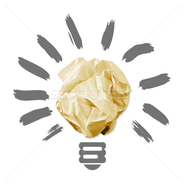 Wad of crumpled paper in the form of light bulbs Stock photo © cherezoff