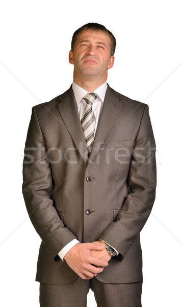 Businessman with disdain on her face Stock photo © cherezoff