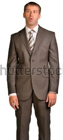 Portret biznesmen formalny garnitur odizolowany biały Zdjęcia stock © cherezoff