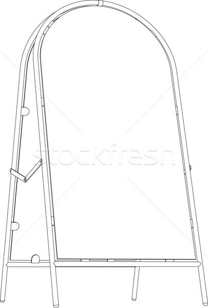Szkic chodniku podpisania perspektywy widoku Zdjęcia stock © cherezoff