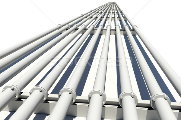 Ipari csövek nyújtás távolság izolált fehér Stock fotó © cherezoff