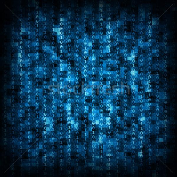 青 行列 抽象的な 黒 番号 ストックフォト © cherezoff