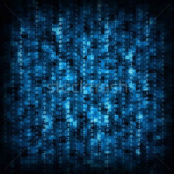 Azul matriz abstrato preto números Foto stock © cherezoff
