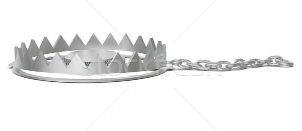 Orso trappola catena vista laterale isolato bianco Foto d'archivio © cherezoff