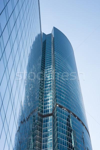 Binalar açık gökyüzü yandan görünüş Stok fotoğraf © cherezoff