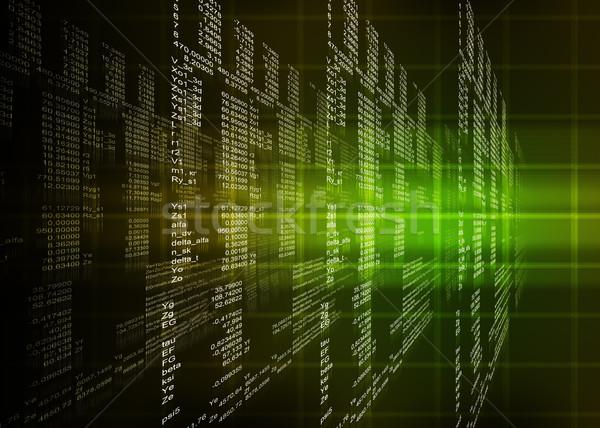 зеленый двоичный код черный темно компьютер свет Сток-фото © cherezoff