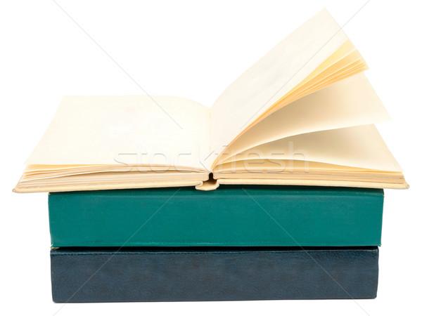 Livros livro aberto isolado branco papel Foto stock © cherezoff