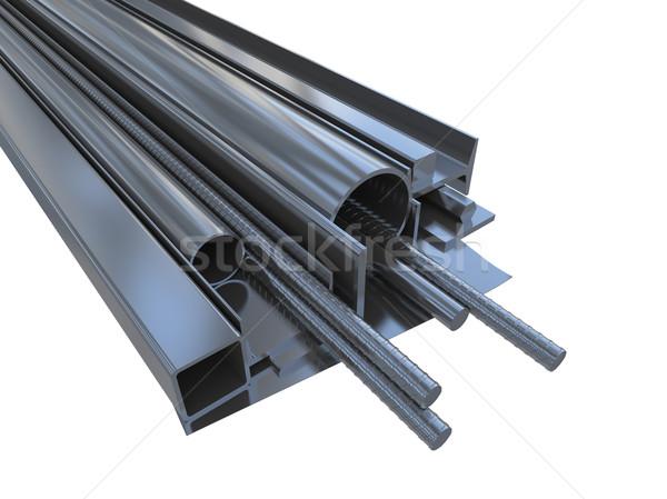 Noir roulé métal produits isolé blanche Photo stock © cherezoff