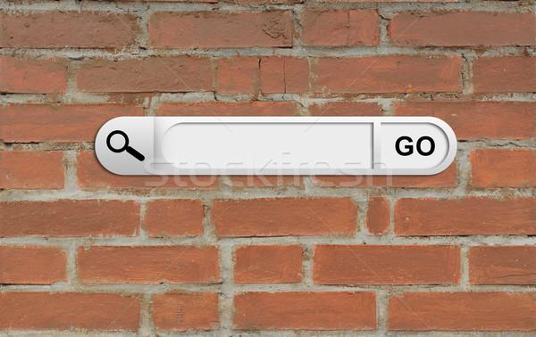 поиск Бар браузер кирпичная стена бизнеса интернет Сток-фото © cherezoff