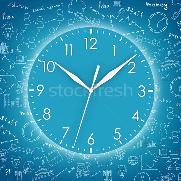 Blue round clock Stock photo © cherezoff
