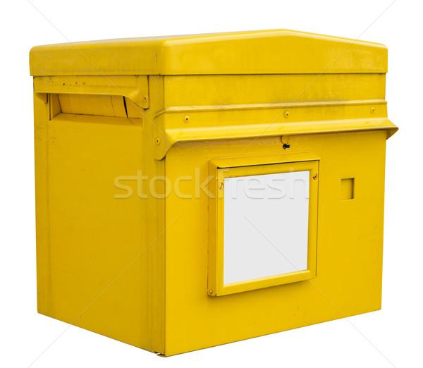 Yellow box on white, close up view Stock photo © cherezoff
