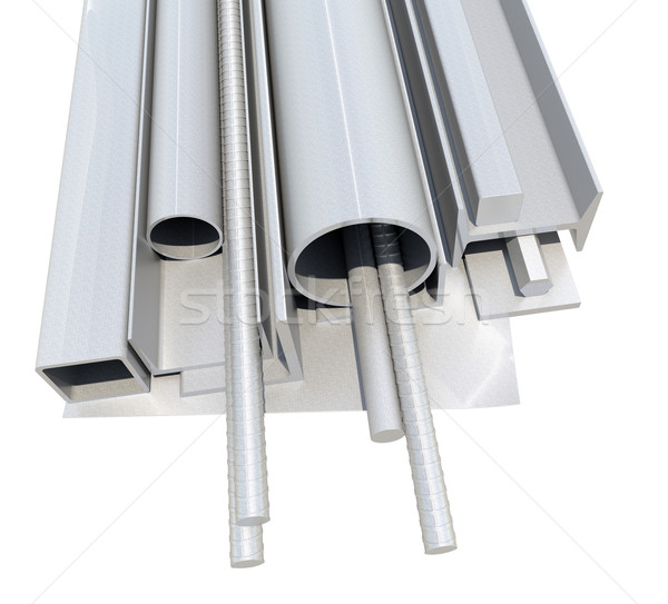 Rolled metal products. 3d illustration Stock photo © cherezoff
