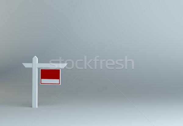 Vásár felirat szürke stúdió 3d illusztráció fa Stock fotó © cherezoff