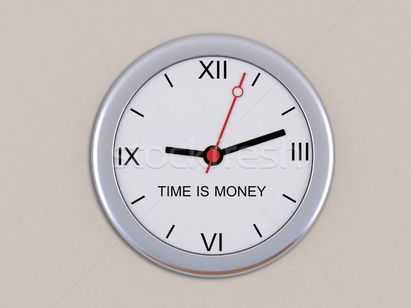 стены часы Время-деньги деньги Финансы Сток-фото © cherezoff