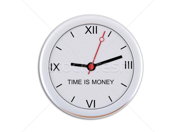 Pared reloj dinero financiar Foto stock © cherezoff