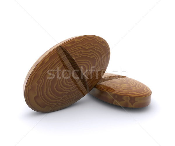 Tablets of the tree - the symbol of natural medicines Stock photo © cherezoff