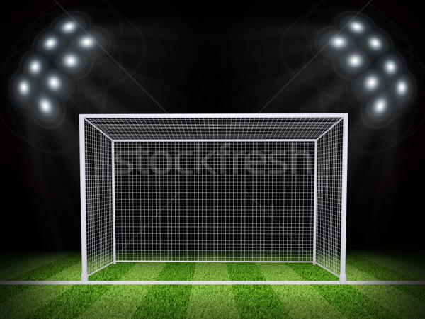 Футбол ворот области ночь футбола арена Сток-фото © cherezoff