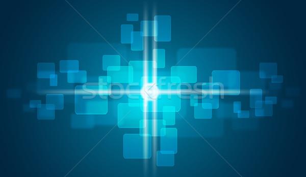 свечение Круги синий искусства Сток-фото © cherezoff
